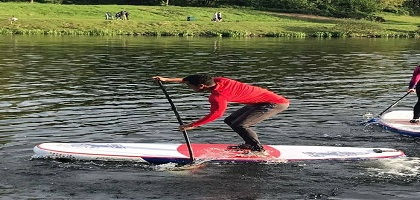 Standup Paddling in Action